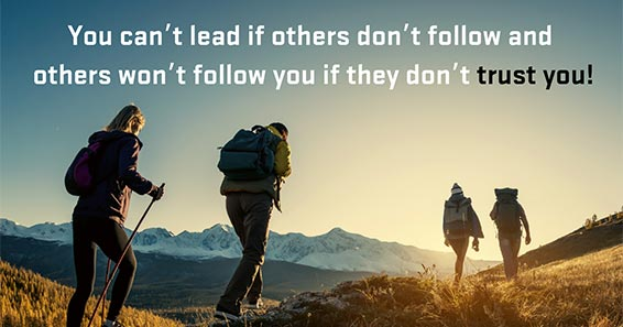 You Can't Lead If Others Don't Follow